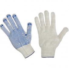 Перчатки хб с пвх 5 нитей 10 класс точка (белые)