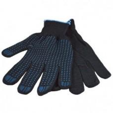 Перчатки хб с пвх 5 нитей 10 класс точка (черные)